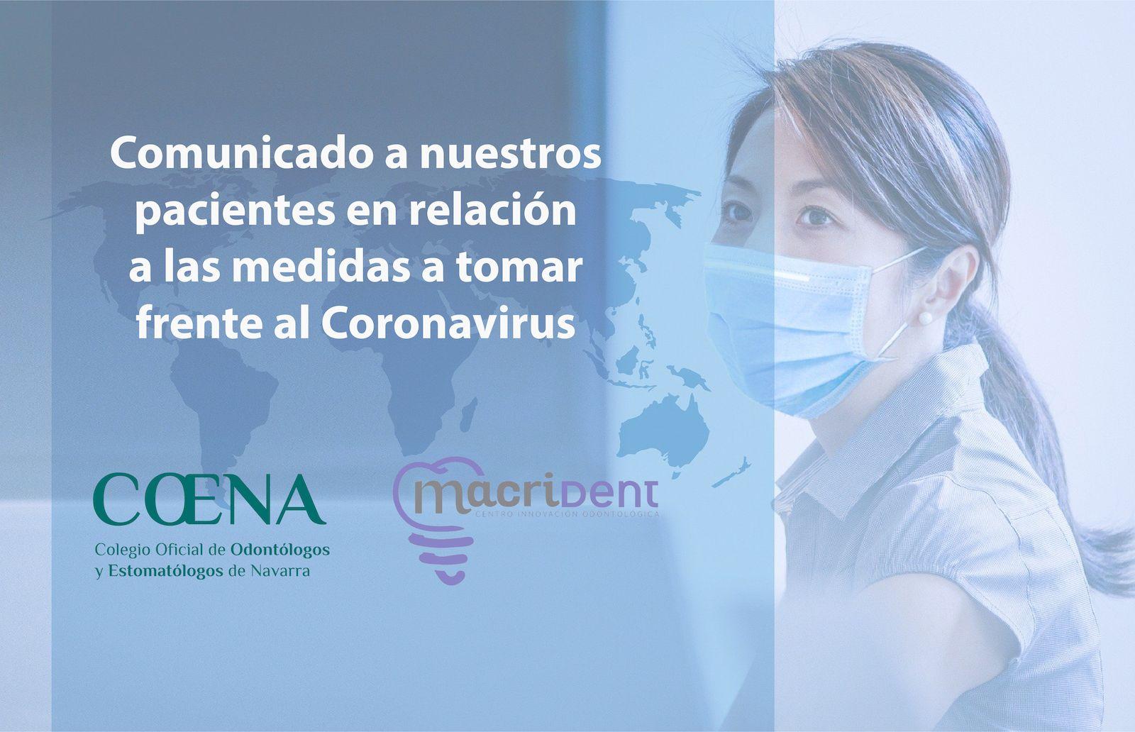 comunicado pacientes medidas coronavirus